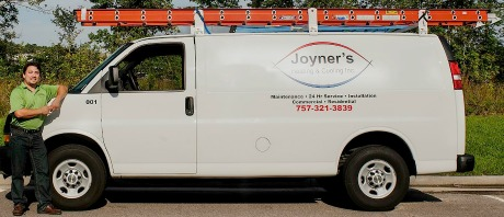 Heating and Cooling Service Van